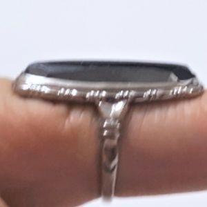 Vintage UNCAS Sterling Hematite Ring Size 5